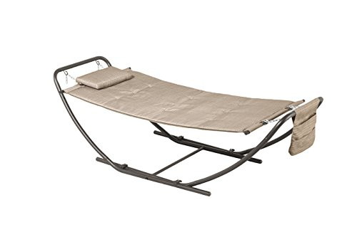 Backyard Classics Deluxe Padded Folding Hammock with Stand