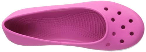 Crocs - Sandalias de vestir para mujer - Fuchsia/White