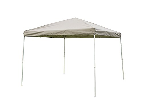 NatureFun 10 x 10 Feet Outdoor Steel Frame Pop Up Patio Instant Canopy PU Coated Party, Khaki