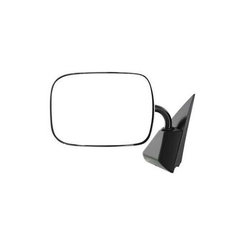 Make Auto Parts Manufacturing - Manual Folding Chrome/Stainless Steel Head/Housing With Black Base Below Eyeline Type Rear View Mirror Left Driver Side - Partslink Number GM1320106