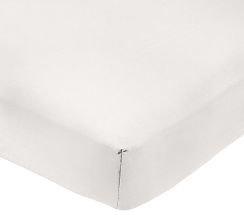 AmazonBasics - Sabana bajera ajustable (polialgodon 200 hilos) Blanco - 135 x 190 x 30 cm