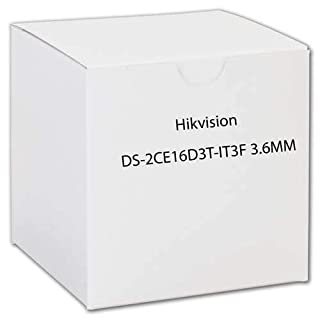 HIKVISION Outdoor IR Bullet, TurboHD 4.0, HD-TVI/AHD/HD-CVI/CVBS, 2MP, 3.6mm, 50m EXIR 2.0, Day/Night, True WDR, 3D DNR, Smart IR, IP67, 12 VDC/DS-2CE16D3T-IT3F 3.6mm
