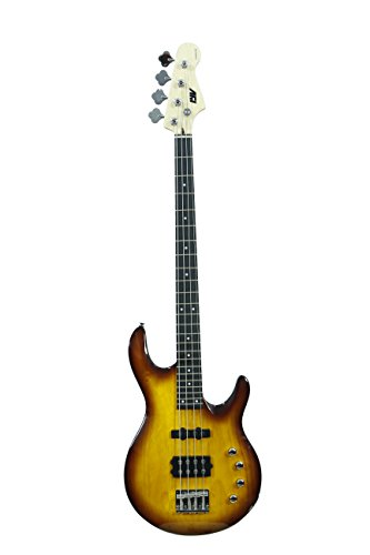 ivy IMM-200 BRB Bass Solid-Body Electric Guitar, Brown Burst