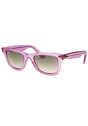 1ba28e7bce Image Unavailable. Image not available for. Color  Ray-Ban RB2140-6056-32  Wayfarer Ice Pop Purple Strawberry Sunglasses