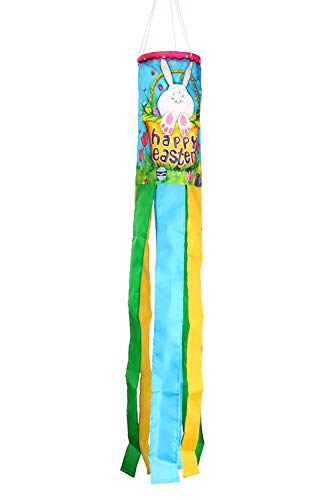 (Toland Home Garden 162513 Bunny Tail Decorative Windsock, Multicolor )