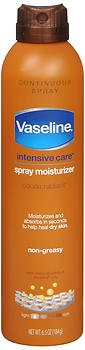 Vaseline, Spray & Go Moisturizer, Cocoa Radiant - 6.5 oz, Pack of 2