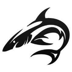 (Tribal Shark Vinyl Decal Sticker | Cars Trucks Vans Walls Laptops Cups | Black | 5.5 inches | KCD973)