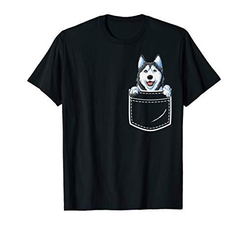 Siberian Husky in Your Front Pocket T Shirt Dog Lover -