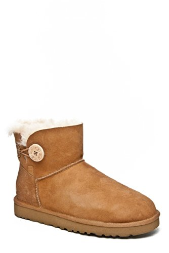 Lady Mini Button - UGG Womens, Mini Bailey Button ankle boots CHESTNUT 5 M