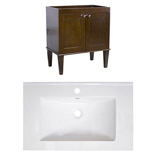 "hot sale Jade Bath JB-8093 32"" W x 18"" D Birch Wood-Veneer Vanity Set with Single Hole CUPC Faucet, Antique Walnut"