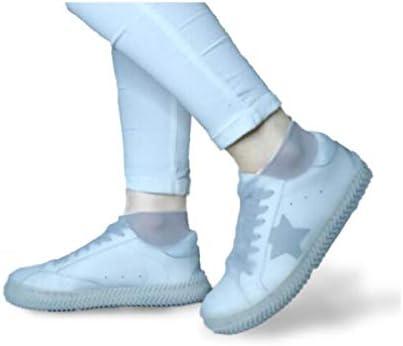 XHYRB 防水靴カバー、太い耐摩耗ボトム、男の子と女の子のためのゴムラテックスブーツ、黒のMコード 防水靴、防雨カバー、長靴 (Color : Gray, Size : M)