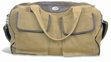 Nebraska Cornhuskers Sport Duffle Bag (NCAA Nebraska Cornhuskers Men's Canvas Concho Duffel Bag, Khaki, One Size)