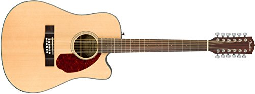 (Fender CD-140SCE 12 String Acoustic-Electric Guitar with Case - Dreadnaught Body Style - Natural Finish )