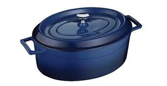 Arcata, Oval Casserole Dish, 4. 90 qt, Blue, Cast Iron, each by Arcata