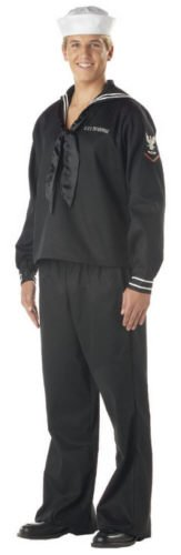 Sailor Halloween Costumes Men (California Costumes Men's Sailor Man Navy Ahoy Matey Black XL Navy And Dark Blue)