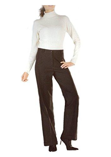 Elegante Damen Businesshose schwarz mit dezenten Nadelstreifen, AM-DA-Businesshose-s