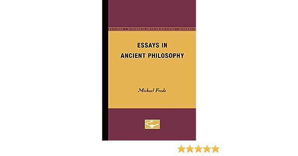 Frede essays in ancient philosophy michael bennett denver schools resume