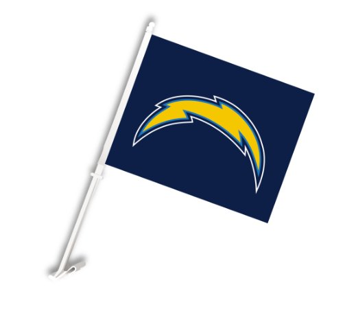 NFL Los Angeles Chargers Car Flag by Fremont Die