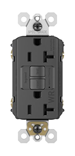 Plate Separately Sold - Legrand - Pass & Seymour radiant 2097TRBKCCD4 Tamper-Resistant 20 Amp Self-Test GFCI Outlet, Black (Wall Plate Sold Separately)