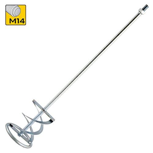 Mörtelrührer M14 100mm x 600mm Rührstab Rührer farbmischer WendelrührerRrührkorb