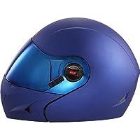 Steelbird Ares Glossy Flip Up Helmet (Large 600MM, Y. Blue)