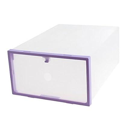 Caso recipiente de plástico PP bricolaje plegable de almacenamiento cuadro Titular de Zapatos púrpura