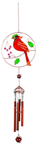 Resin Holly - Carson Wireworks Chime - Cardinal/Holly