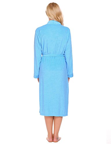 Corgy Women Robe Cotton Terry Lightweigt Belted Kimono Spa Bathrobe with Pockets by Corgy (Image #5)