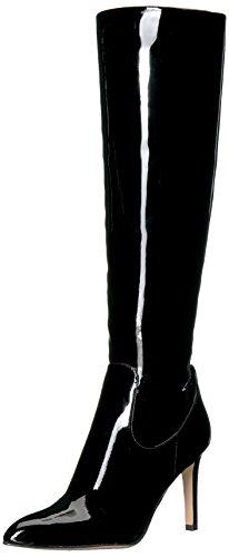 Sam Edelman Women's Olencia Knee High Boot, Black Patent, 6.5 Medium US