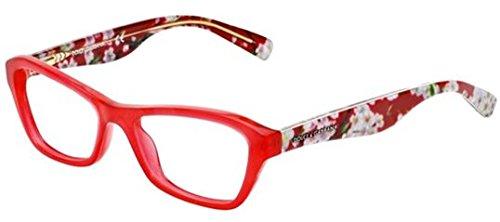 Dolce&Gabbana ALMOND FLOWERS DG3202 Eyeglass Frames 2850-47 - Opal Red - Flower Dolce Gabbana Glasses