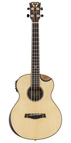 Traveler Guitar 4 String Acoustic-Electric Bass Guitar, Right (CL3BE SPSE) (Traveler Bass)