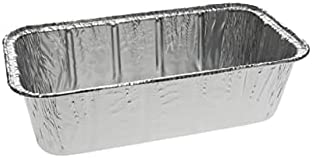 Pactiv Y60835 R3JC 8.5 x 4.5 x 2.5 in. 2 lbs Loaf Pan Aluminum Full Curl - Case of 300