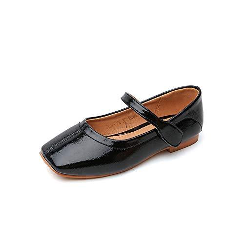 MIKA HOM Kid Girl Mary Jane Wedding Party Shoes Bridesmaids Princess Dress Shoes(Black 31/13 M US Little Kid) ()