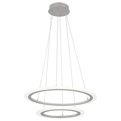 George Kovacs P8142-609-L Discovery Pendant, 2-Light LED 44 Total Watts, Silver