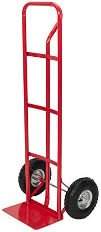 Iron 150kg Non-Foldable Luggage Cart Red
