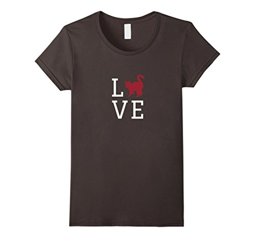 Women's LOVE Kitty Cat T-Shirt, Great Gift For Cat Lovers...