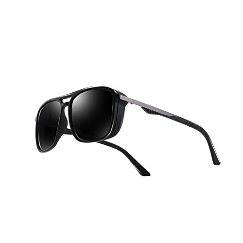 Kimorn Polarized Sunglasses For Men Square Frame Unisex Outdoor Sports Goggle Classic K0623 ()