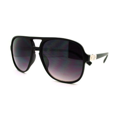 SA106 Mens Mobster Aviator Metal Hinge Plastic Fashion Sunglasses Matte - Glasses Mobster