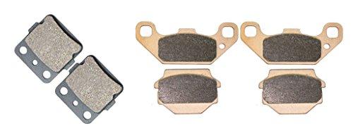 Brake Pad Set for KAWASAKI ATV KXF250 KXF 250 cc 250cc A1-2 Tecate 87 88 89 90 91 92 93 94 95 96 97 98 99 00 01 02 1987 1988 1989 1990 1991 1992 1993 1994 1995 1996 1997 1998 1999 2000 2001 2002 6Pads