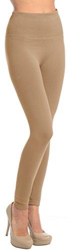 Regular Size High Waisted Fleece Solid Leggings (Team Pride Fleece)