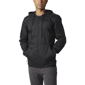 Adidas Essentials (Big & Tall) Wind Jacket Lt Black by adidas