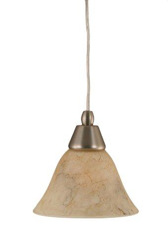 Toltec Lighting 22-BN-508 Cord Mini-Pendant Light Brushed Nickel Finish with Italian Marble Glass, ()