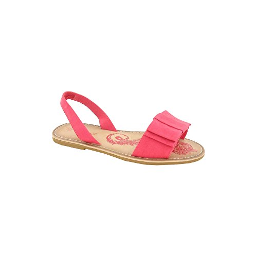 Spot On Womens Synthetic Leather Sandals Coral BgizC