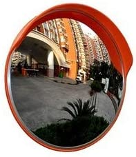 45cm Wide Angle Security Curved Convex Road Mirror For Driveway Blind Spot Road Alomejor1 Convex Traffic Mirror