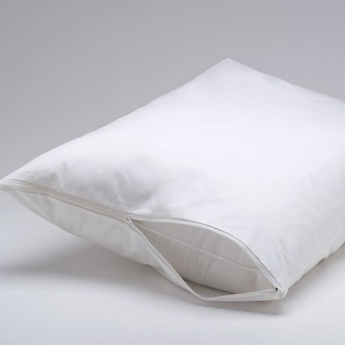 DELUXE Vinyl Pillow Protector with Zipper, 2 Pillow Covers (Vinyl Zipper)
