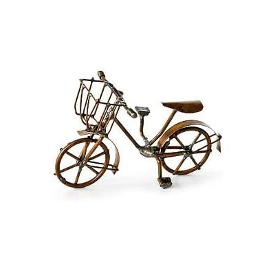 Mini Bicycle, Antiqued Fairy Garden Rustic Accessories Bike Village Pieces Decoration: Everything Else