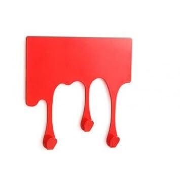 Perchero con forma de gotas de sangre, color rojo: Amazon.es ...