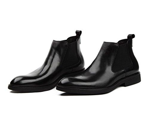 Herren Lederschuhe Herren Lederschuhe High-Top britischen Stil wies kurze Martin Tooling Boots Herrenschuhe ( Farbe : Schwarz , größe : EU38/UK5.5 ) Schwarz