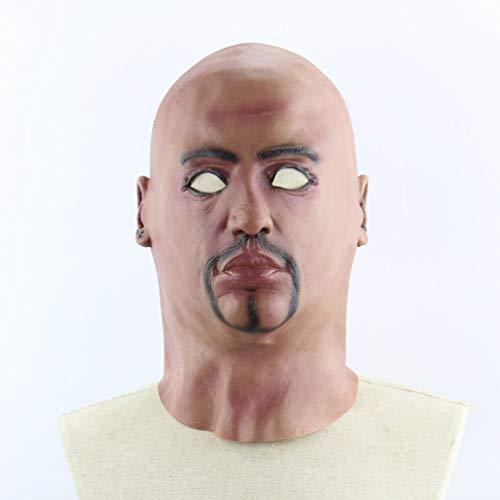 Bald Man Character Headgear Halloween Horror Scary Performance -