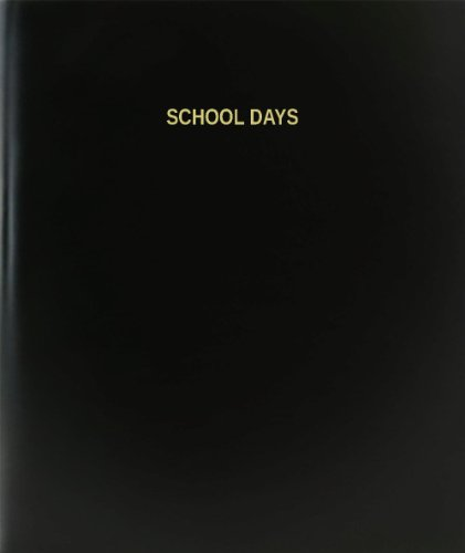 BookFactory® School Days Log Book / Journal / Logbook - 120 Page, 8.5''x11'', Black Hardbound (XLog-120-7CS-A-L-Black(School Days Log Book)) by BookFactory